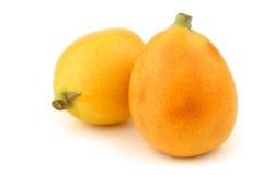 Fresh loquat fruit (Eriobotrya japonica) Stock Image