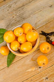 Fresh loquats Stock Image