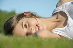 Fresh and lovely woman Stock Images