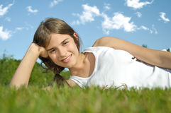 Fresh and lovely woman Royalty Free Stock Image
