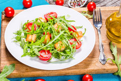 Fresh low-calories salad with chicken breast, close-up Royalty Free Stock Photo