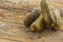 Fresh low-salt pickled cucumbers. Royalty Free Stock Image