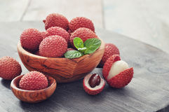 Fresh lychee Royalty Free Stock Image