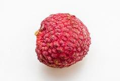 Fresh lychee fruits. On white background Stock Photo