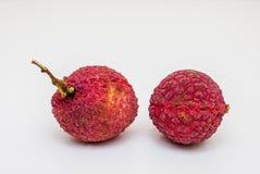 Fresh lychee fruits. On white background Royalty Free Stock Photography