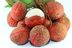 Fresh Lychee fruits Royalty Free Stock Image