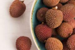 Fresh lychee Stock Image