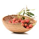 Fresh lychee (Litchi chinensis) Royalty Free Stock Photos