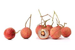 Fresh lychee (Litchi chinensis) Royalty Free Stock Image