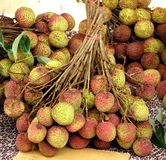 Fresh Lychee for Sale Stock Images