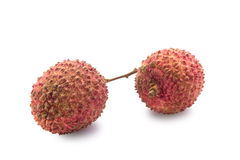 Fresh lychees fruit with isolate white background Stock Photography