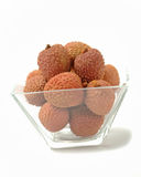 Fresh lychees isolated Royalty Free Stock Photo