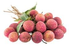 Fresh lychees isolated Stock Photo