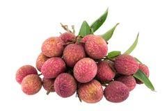 Fresh lychees isolated Stock Image
