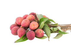 Fresh lychees isolated Stock Images