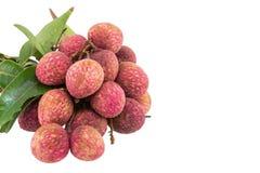 Fresh lychees isolated Royalty Free Stock Image