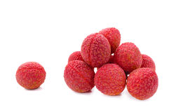 Fresh lychees & x28;Litchi chinensis& x29; isolated on white background royalty free stock photo