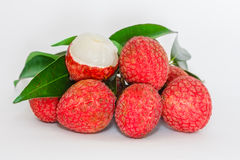 Fresh lychees Royalty Free Stock Images