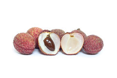 Fresh lychees Stock Photography