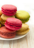 Fresh macaroons Stock Images