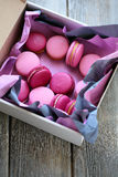 Fresh macaroons in box Royalty Free Stock Image