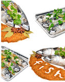 Fresh mackerel fish with parsleyand spices Stock Photo