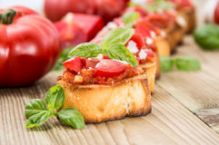 Fresh made Antipasti (Bruschetta) Stock Images