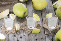 Fresh made Apple Liqueur Royalty Free Stock Photo