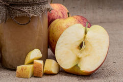 Fresh made applesauce Royalty Free Stock Photo