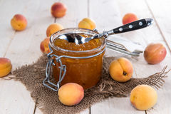 Fresh made Apricot Jam Royalty Free Stock Photos