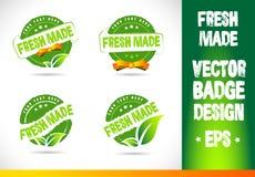Fresh Made Badge Vector Logo Stock Images