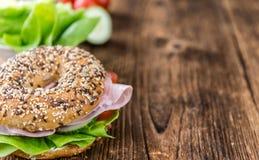 Free Fresh Made Bagel With Ham Stock Photos - 74839313