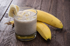Fresh made Banana Milkshake Royalty Free Stock Photo
