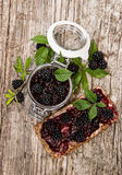 Fresh made Blackberry Jam Stock Image