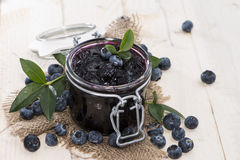 Fresh made Blueberry Jam Stock Photos