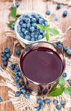 Fresh made Blueberry Juice Stock Photography