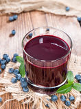 Fresh made Blueberry Juice Stock Photos