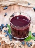 Fresh made Blueberry Juice Stock Photos