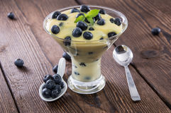 Fresh made Blueberry Pudding Royalty Free Stock Images