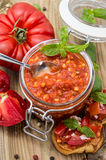 Fresh made Bruschetta Sauce Royalty Free Stock Image