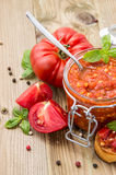 Fresh made Bruschetta Sauce Stock Images