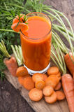 Fresh made Carrot Juice Royalty Free Stock Images