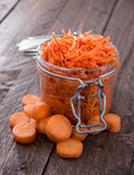 Fresh made Carrot Salad Stock Photos