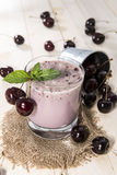Fresh made Cherry Smoothie Royalty Free Stock Image