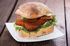 Fresh made Chicken Sandwich Royalty Free Stock Photo