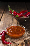 Fresh made Chili Sauce (Sambal Oelek) Royalty Free Stock Image
