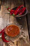 Fresh made Chili Sauce (Sambal Oelek) Royalty Free Stock Photography