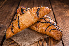 Fresh made Chocolate Croissants royalty free stock photography