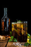 Fresh made Cuba Libre Royalty Free Stock Photography