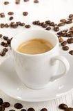 Fresh made espresso in a cup Stock Image